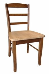 Madrid Ladderback Chair (Set of 2) in Cinnamon / Espresso - C58-2P