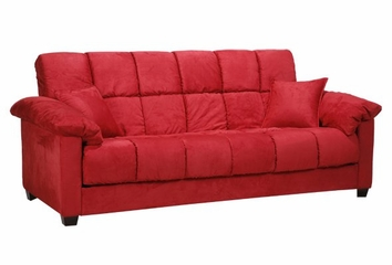 Madrid Sofa Bed in Microfiber Crimson - Handy Living - MDR1-S1-AAA47