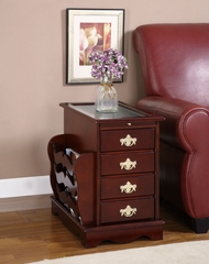 "Magazine Cabinet Table - ""Heirloom Cherry"" - Powell Furniture - 449"