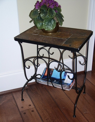 Magazine End Table with Slate Top - 4D Concepts - 601613