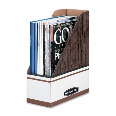 Magazine File - Woodgrain/White 12 Count- FEL07224