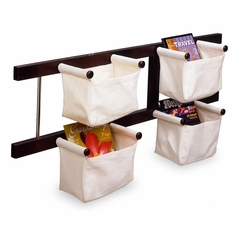 Magazine Rack in Espresso Finish - Winsome Trading - 92444