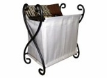 Magazine Rack with Canvas - Pewter - Pangaea Home and Garden Furniture - FM-C4086