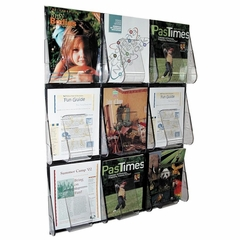Magazine Wall Rack - Clear - DEF56801