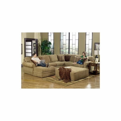 Magnitude L Shaped Sectional with Ottoman - Jackson Furniture