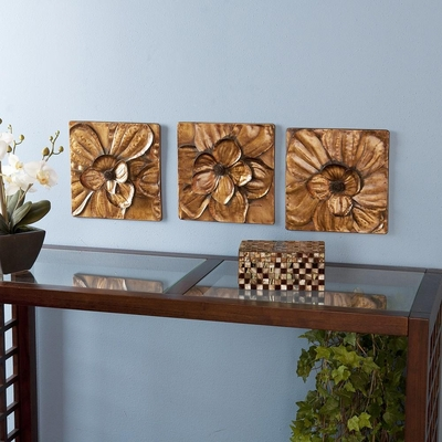SEI Magnolia 3pc Wall Panel Set