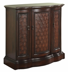 """Mahogany"" Curved Marble Top Cabinet - Powell Furniture - 943-254"