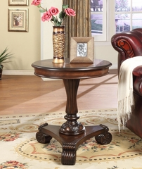 """Mahogany"" Round End Table - Powell Furniture - 943-211"