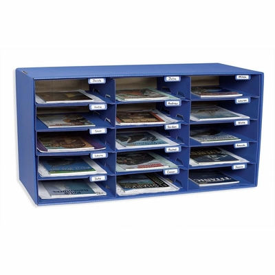 Mail Box - 15 Slots - Blue - PAC001308