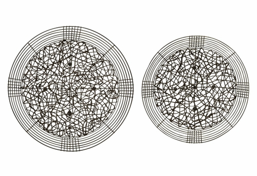 Malacca Rattan and Wire Bowls (Set of 2) - IMAX - 10706-2