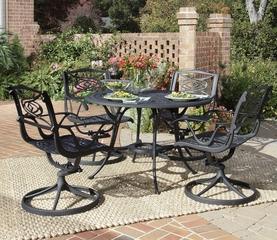 Malibu 5-Piece Outdoor Dining Set in Black - Home Styles - 5556-305