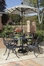 Malibu 5-Piece Outdoor Dining Set in Black - Home Styles - 5556-308