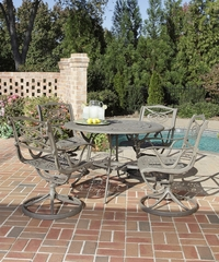 Malibu 5-Piece Outdoor Dining Set in Taupe - Home Styles - 5557-305