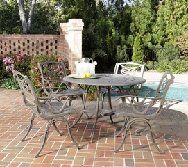 Malibu 5-Piece Outdoor Dining Set in Taupe - Home Styles - 5557-308