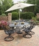 Malibu 7-Piece Outdoor Dining Set in Black - Home Styles - 5556-335