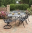 Malibu 7-Piece Outdoor Dining Set in Black - Home Styles - 5556-3358