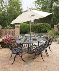 Malibu 7-Piece Outdoor Dining Set in Black - Home Styles - 5556-338