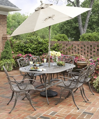 Malibu 7-Piece Outdoor Dining Set in Taupe - Home Styles - 5557-338