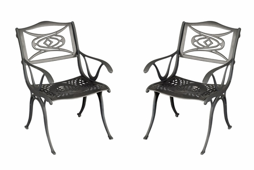 Malibu Outdoor Dining Arm Chair (Set of 2) in Black - Home Styles - 5556-802