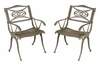Malibu Outdoor Dining Arm Chair (Set of 2) in Taupe - Home Styles - 5557-802