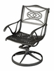 Malibu Outdoor Dining Swivel Arm Chair in Black - Home Styles - 5556-53
