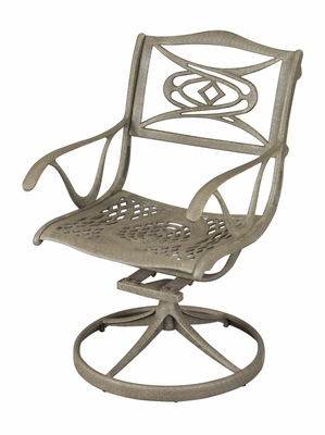Malibu Outdoor Dining Swivel Arm Chair in Taupe - Home Styles - 5557-53