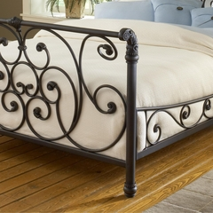 Mandalay Queen Size Bed in Rustic Old Brown - Hillsdale Furniture - 1579BQR