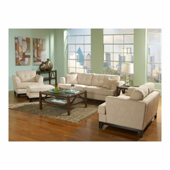 Manhattan 4 Piece Living Room Set Chamois - Largo - LARGO-WG-F2510-SET