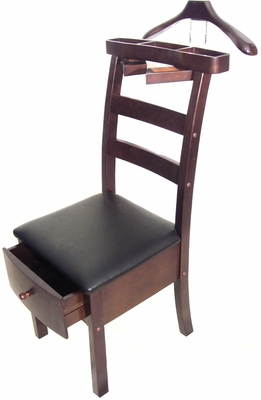 Manhattan Chair Valet Dark Walnut - Proman Suit Valet - VL16654