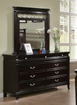 Manhattan Dresser with Mirror in Deep Rich Espresso - Coaster - 201313-14-SET