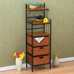Manilla 3 Drawer Rattan Basket Storage - Holly and Martin