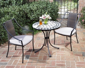Marble Bistro Table and 2 Cambria Arm Chairs - Home Styles - 5605-342