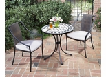 Marble Bistro Table and 2 Newport Arm Chairs - Home Styles - 5605-341