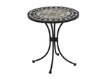 Marble Bistro Table in Black / Grey - Home Styles - 5605-34