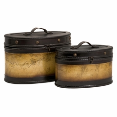 Marco Polo Decorative Boxes (Set of 2) - IMAX - 87201-2
