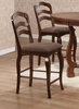 "Marcus 24"" Bar Stool (Set of 2) in Medium Brown Oak - Coaster - 102149-SET"