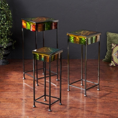 Mardi Gras 3 pc Accent Table Set - Holly and Martin