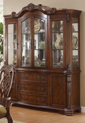 Marisol Buffet & Hutch with Ornate Carved Detailing - 103444