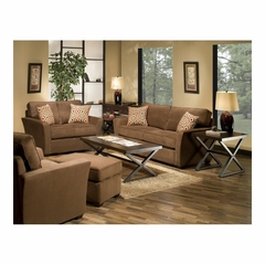Marley 4 Piece Living Room Set Chocolate - Largo - LARGO-ST-F2200-SET