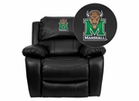 Marshall University Thundering Herd Leather Rocker Recliner - MEN-DA3439-91-BK-40016-EMB-GG