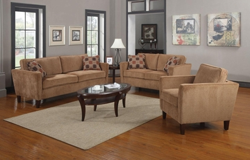 Marya 3PC Contemporary Sofa Set in Caramel - 504051