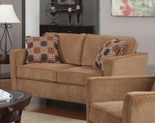 Marya Contemporary Track Arm Loveseat - 504052