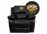 Maryland Baltimore County Retrievers Leather Rocker Recliner - MEN-DA3439-91-BK-41084-EMB-GG