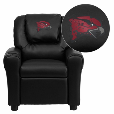 Maryland Eastern Shore Hawks Black Vinyl Kids Recliner - DG-ULT-KID-BK-41085-EMB-GG