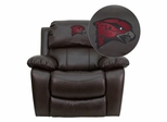 Maryland Eastern Shore Hawks Embroidered Brown Leather Rocker Recliner - MEN-DA3439-91-BRN-41085-EMB-GG