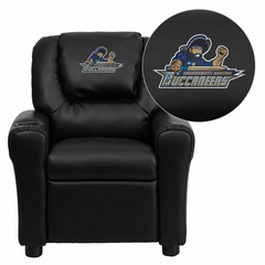 Massachusetts Maritime Academy Buccaneers Embroidered Black Vinyl Kids Recliner - DG-ULT-KID-BK-41051-EMB-GG