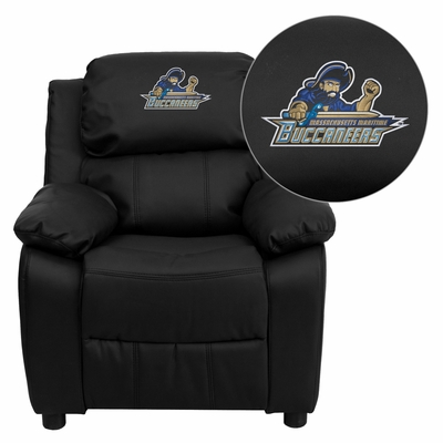 Massachusetts Maritime Academy Buccaneers Leather Kids Recliner - BT-7985-KID-BK-LEA-41051-EMB-GG
