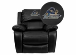 Massachusetts Maritime Academy Buccaneers Leather Rocker Recliner - MEN-DA3439-91-BK-41051-EMB-GG