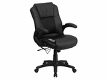 Massaging Black Leather Executive Office Chair  - BT-2536P-1-GG