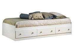 Mate's Bed in Pure White/Maple - South Shore Furniture - 3263080